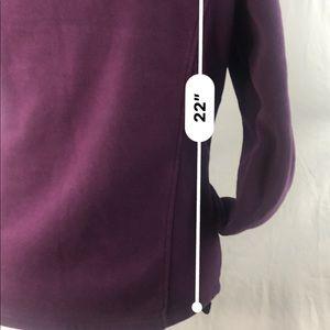 EStudio Jackets & Coats - E Studio sz L Purple  Lined Fleece Zippered Jacket